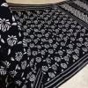 Cotton Black And White Saree