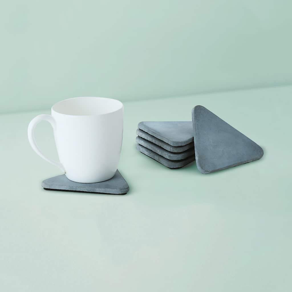 Wonderwheelstore   03   Set Of 6 Trion Grey & Beige Concrete Coasters Gmac013 1