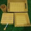 Jaipuri Block Printed Handicraft Office Decor – Blue Grey