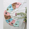 Personalized Pastel shades Initial Embroidery Masks ( Set of 5)