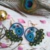 Golden-hour Dreamcatcher Earrings