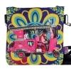 Vintage Car Designer Canvas PU Small Sling Bag